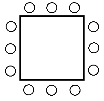 Seating Arrangement Around Various Geometrical Figures